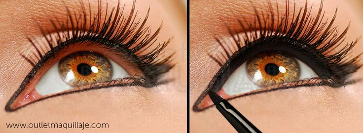 Delineado natural del ojo.