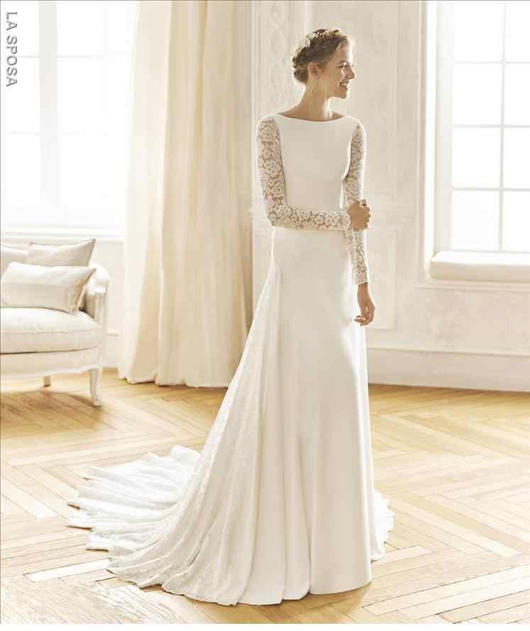 Coleccion vestidos de novia 2019 en Ciudad Real. Modelo Bagdad de la Sposa.