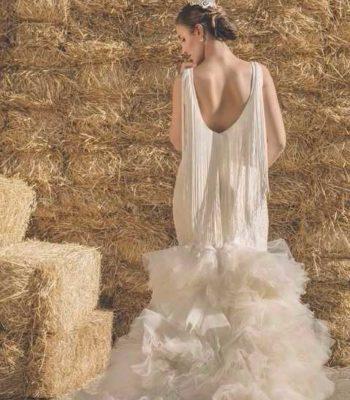 Vestido flamenco para novia